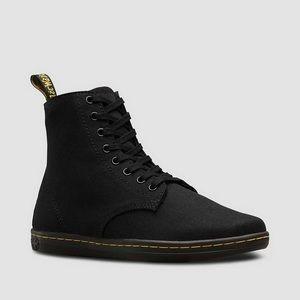 Dr.Martens Black Vegan Canvas Combat Boots AS IS